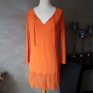 Venus Orange Moss Tunic Dress Swim Cover Up New